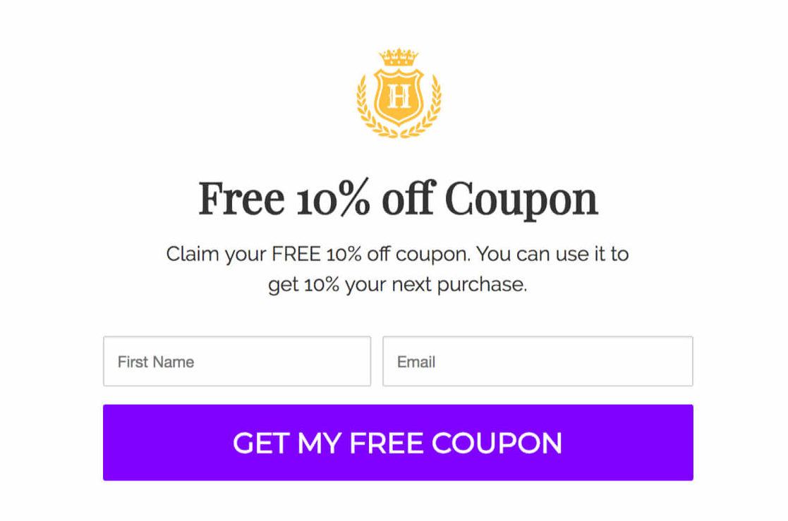 coupon popup
